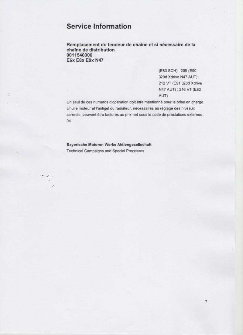 probl me chaine de distribution n47 action qualit bmw p70 page 70 bmw. Black Bedroom Furniture Sets. Home Design Ideas